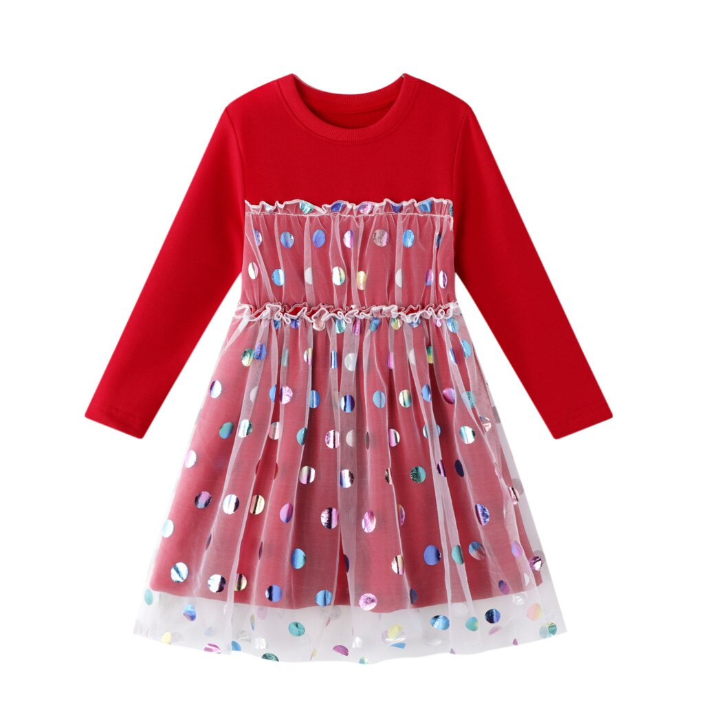 Toddler Kids Baby Girls Dress Clothes Autumn