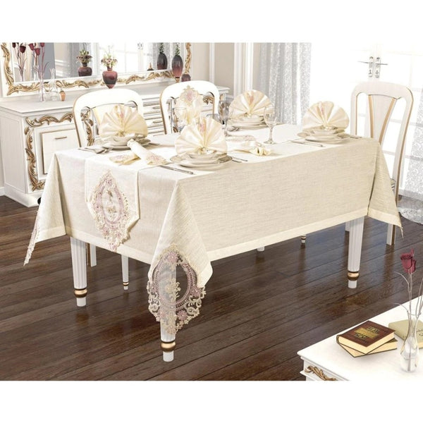 26 pcs Luxurious Table Cloth Set Made in Turkey
