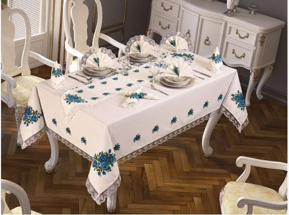 18 pcs Luxurious Table Cloth Set Made in Turkey