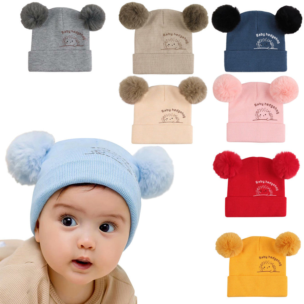 Winter Baby Boys Girls Hats Cute Furry Balls - Be Imperial