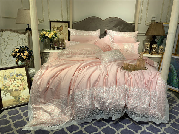 Romantic lace bed linen sheets cotton bedding sets duvet cover  queen king bedspreads