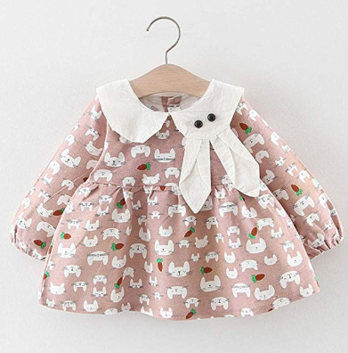 Kids Dress Infant Baby Girls Long Sleeve Rabbit - Be Imperial