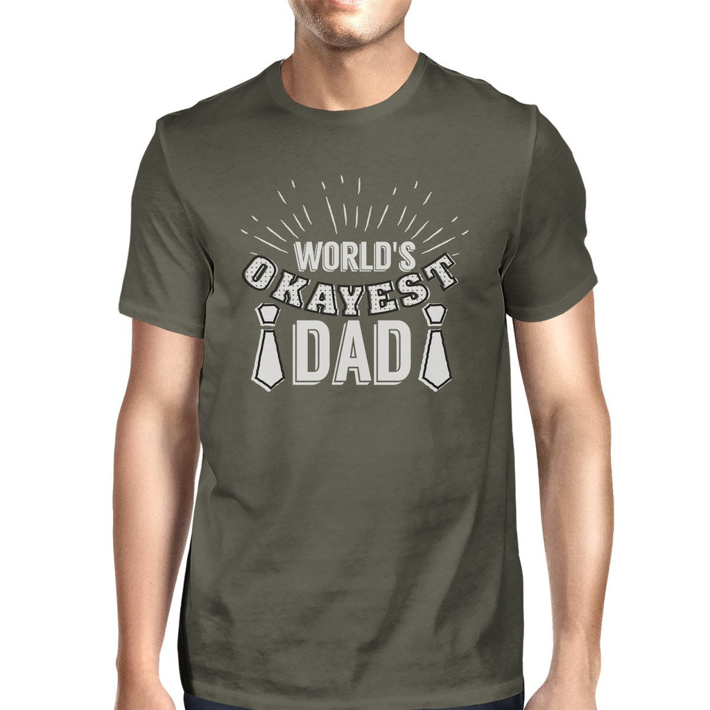Worlds Okayest Dad Mens Dark Gray Graphic Tee - Be Imperial