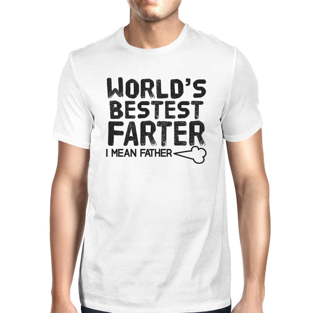 World's Bestest Farter Men's White Funny Short - Be Imperial