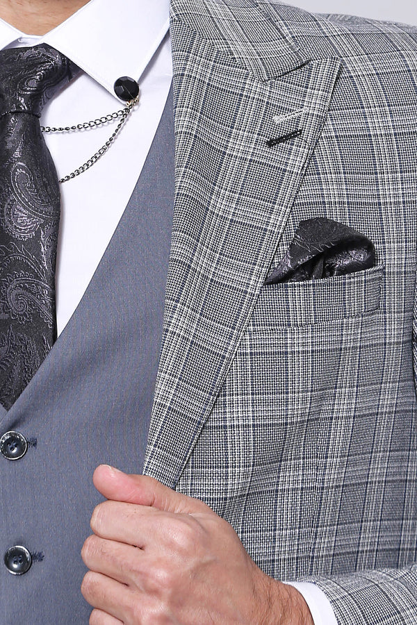 Grey Combined Suit