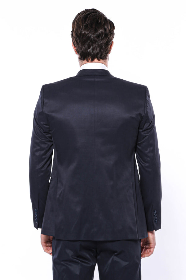 Navy Blue Slim-Fit Suit