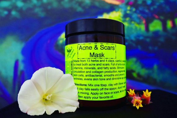 Organic Acne & Scars Mask- Vegan, evens skin tone, - Be Imperial