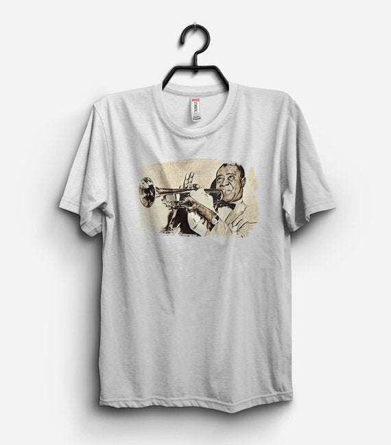 Louis Armstrong Shirt Jazz Paintings Jazz Art Jazz - Be Imperial