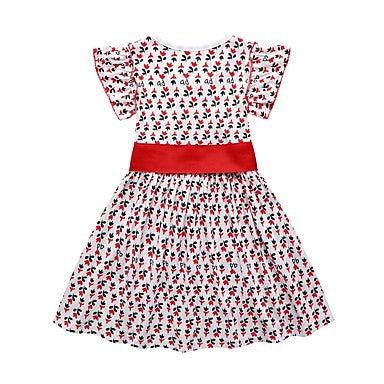 Girls' Geometric Dress Red