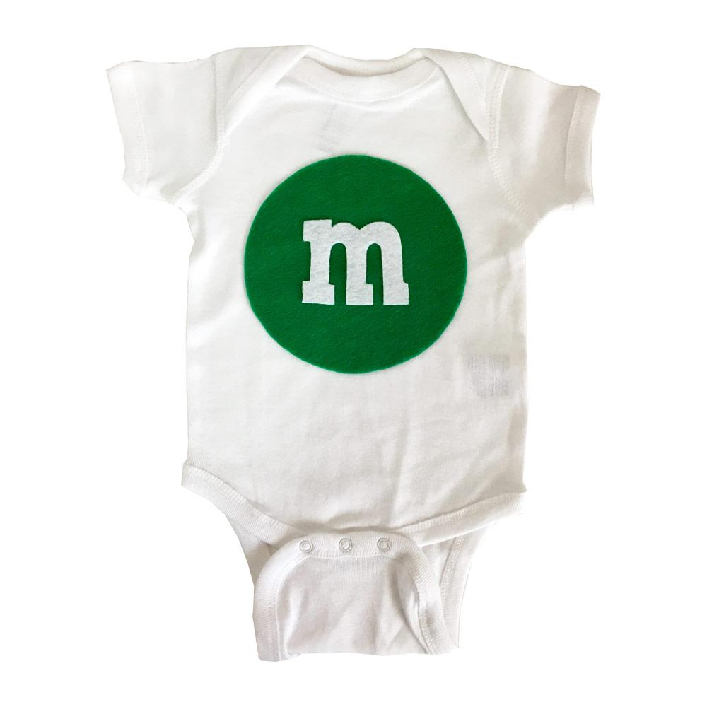 Merry Christmas - M and M's Baby Bodysuit - Green