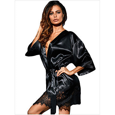 Women's Lace Sexy Robes / Satin & Silk Nightwear