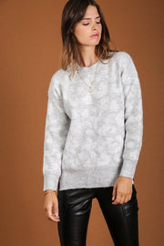 Kendra Leopard Print Soft Grey Jumper - Suburbia Clothing