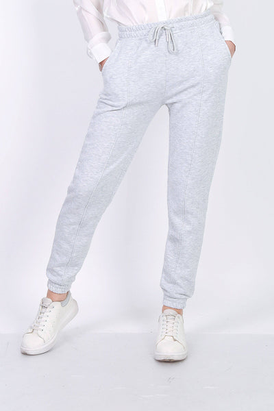 Vickey Fleece Tapered Grey Joggers | Suburbia Clothing