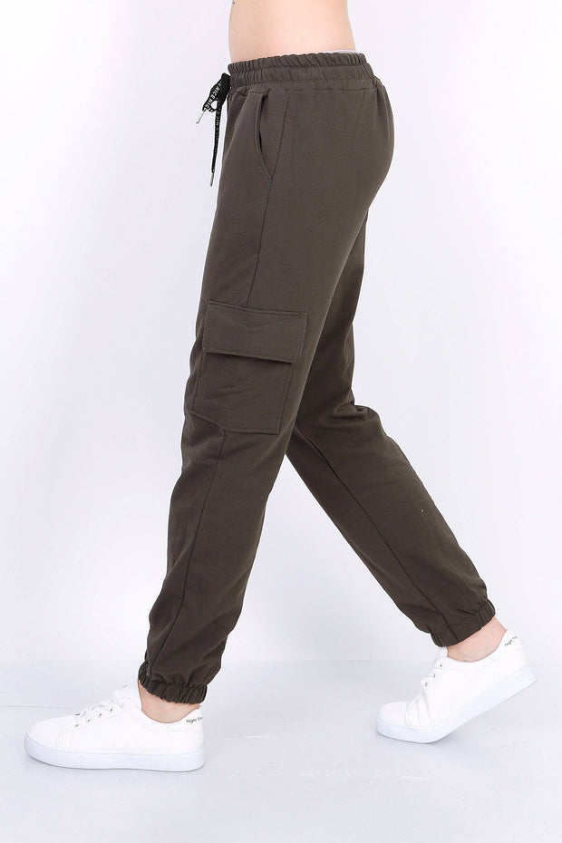 Tara Cotton Cargo Pants In Khaki | Suburbia Clothing