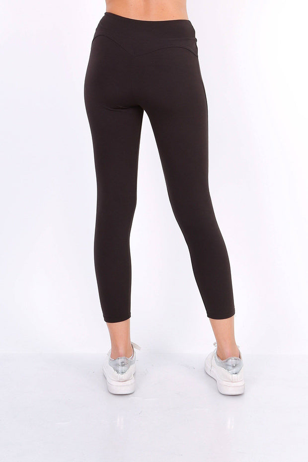Sylvie Crop Black Leggings - Suburbia Clothing