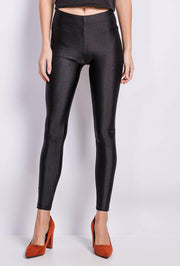 Talia High Shine Black Leggings | Suburbia Clothing