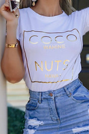 Charlotte Coco T-Shirt In White - Suburbia Clothing