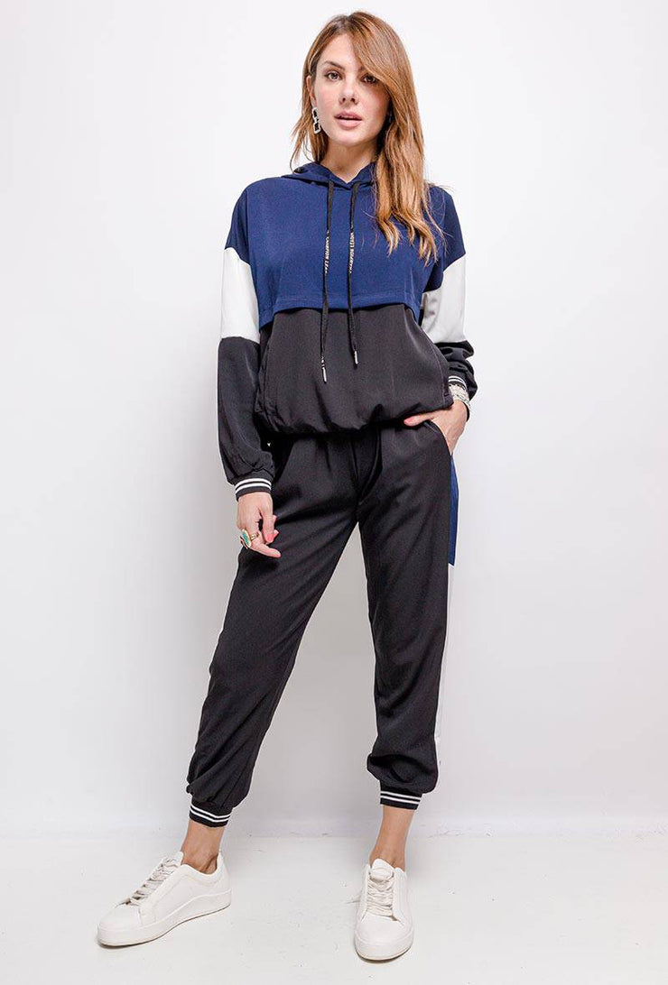 Nova Blue Colour Block Tracksuit - Suburbia Clothing