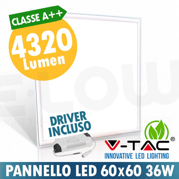 PANNELLO LED 600*600mm 36W A++ 4320 LUMEN