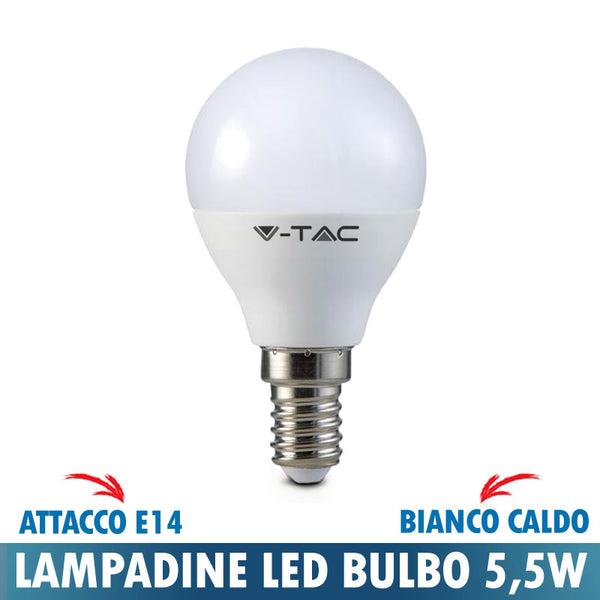LAMPADINA LED BULBO MINI 5,5W E14