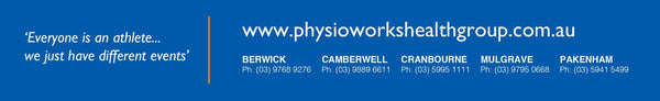 Everyone is an athlete... we just have different events physioworks health group