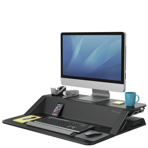 BUY FELLOWES LOTUS Sit Stand Workstation with FREE SHIPPING 7901 black