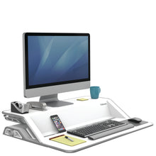 Load image into Gallery viewer, BUY FELLOWES LOTUS Sit Stand Workstation with FREE SHIPPING 9901 white