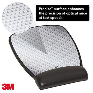 BUY 3M MW310LE  Precise Mousing Surface with Leatherette Gel Filled Wrist Rest FREE SHIPPING