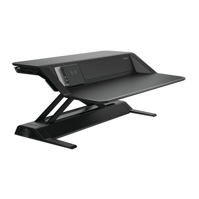 BUY FELLOWES LOTUS DX sit stand workstation FREE SHIPPING 8082101 black