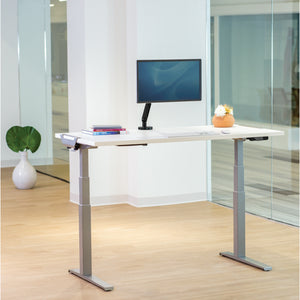 BUY FELOOWES Levado Height Adjustable Desk FREE SHIPPING 8949401. Standing desk/sit stand desk/stand up desk available with white table tops.
