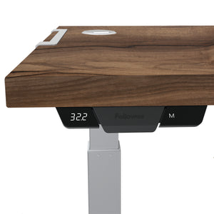 BUY FELOOWES Levado Height Adjustable Desk FREE SHIPPING 8949401. Standing desk/sit stand desk/stand up desk available with walnut table tops.