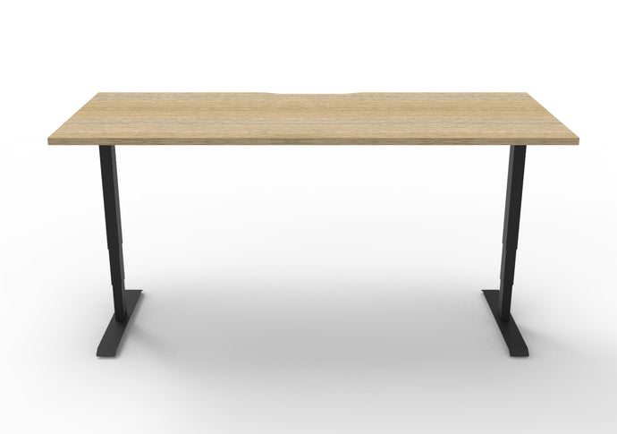 Buy Rapidline Boost Electric Height Adjustable Desk FREE SHIPPING standing desk black base Natural oak tabletop 1200mm W x 750mm D, 1500mm W x 750mm D, 1800mm W x 750mm D, BHA1275, BHA1575, BHA1875