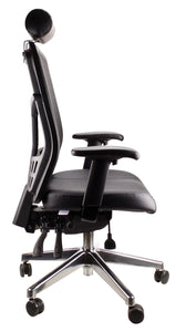 Mesh Deluxe Pro Leather Seat Executive Chair