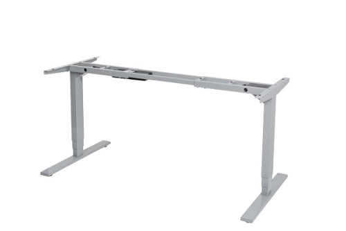 Buy Vertilift 2 Leg Height Adjustable Desk Frame/standing desk/stand up desk with FREE SHIPPING silver frame