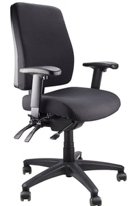 Buy quality Ergoform Ergonomic Office Desk Chair now with FREE SHIPPING black with black base and armrests