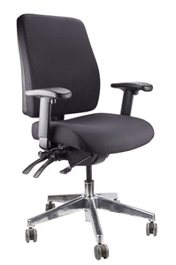 Buy quality Ergoform Ergonomic Office Desk Chair now with FREE SHIPPING black with polished base and armrests