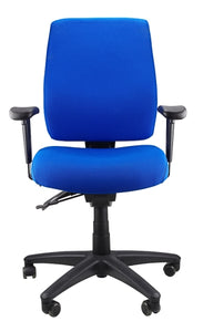 Buy quality Ergoform Ergonomic Office Desk Chair now with FREE SHIPPING blue with black base and armrests