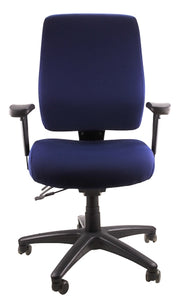 Buy quality Ergoform Ergonomic Office Desk Chair now with FREE SHIPPING navy with black base and armrests