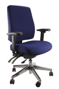 Buy quality Ergoform Ergonomic Office Desk Chair now with FREE SHIPPING navy with polished base and armrests