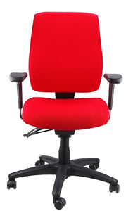 Buy quality Ergoform Ergonomic Office Desk Chair now with FREE SHIPPING red with black base and armrests