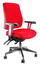 Load image into Gallery viewer, Buy quality Ergoform Ergonomic Office Desk Chair now with FREE SHIPPING red with polished base and armrests