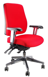 Buy quality Ergoform Ergonomic Office Desk Chair now with FREE SHIPPING red with polished base and armrests