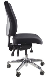 Buy quality Ergoform Ergonomic Office Desk Chair now with FREE SHIPPING black with polished base