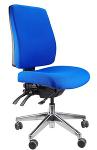 Buy quality Ergoform Ergonomic Office Desk Chair now with FREE SHIPPING blue with polished base