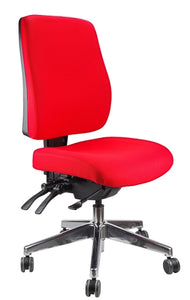 Buy quality Ergoform Ergonomic Office Desk Chair now with FREE SHIPPING red with polished base