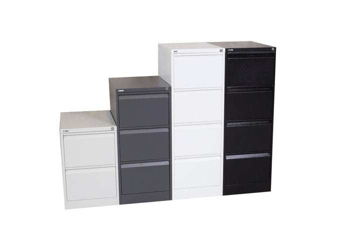GO Vertical Filing Cabinets - 2, 3 or 4 Draws