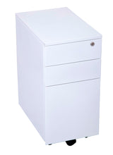 Load image into Gallery viewer, GO Steel Slimline Mobile Pedestal - 3 Drawers