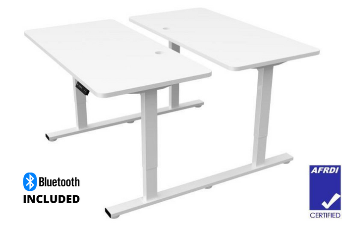 Buy Infinity 2 Stage Leg 4 Motor 4 Memory Back to Back Electric Height Adjustable Desk Office Desk white, grey or black desk frame with a white or beech melamine desk top with bluetooth. Desks for Backs. Shop online home & office ergonomic furniture and supplies. Standing desks, stand up desk, office workstation, office furniture, sit & stand desks. Office Portfolio