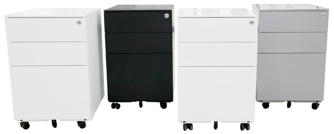 BUY Movida Steel Mobile Pedestal - Standard/Slim/Squat FREE SHIPPING. Movida Steel Mobile Pedestals/desk draws come in 3 different options: Standard Slim Squat Both the Standard and the Slim Mobile Pedestals work well for any ordinary desk, with the Slim just giving you that bit extra room if you have a smaller desk
