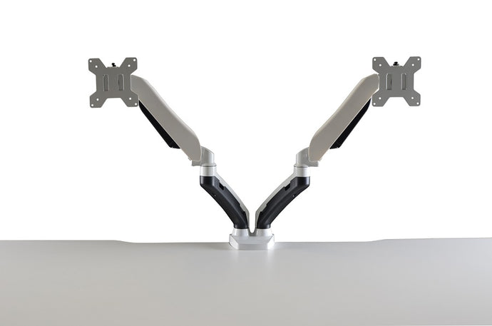 Buy Vertilift Dual Monitor Arm Gas Lift in white or black monitor arm. Desks for Backs. Shop online home & office ergonomic furniture and supplies. Monitor arm, monitor raiser, office workstation accessories, accessory, office furniture. Vertilift excellence in motion.